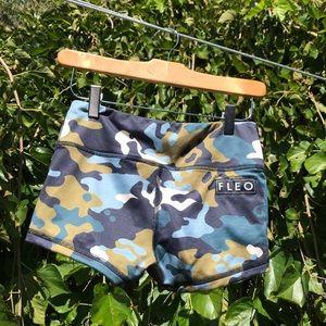 Fleo Original shorts -Alpine Olive Camo